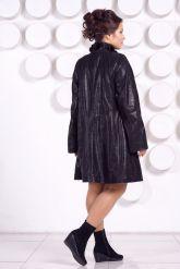 Кожаное пальто больших размеров MONIKA-VIZ. Фото 4.