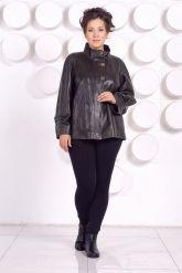 Комфортная кожаная куртка больших размеров. Фото 1.