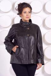 Комфортная кожаная куртка больших размеров. Фото 2.