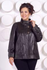 Комфортная кожаная куртка больших размеров. Фото 3.