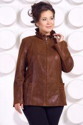Замшевая кожаная куртка больших размеров GILLA. Фото 2.