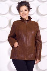 Замшевая кожаная куртка больших размеров GILLA. Фото 3.