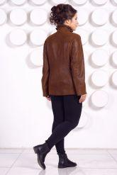 Замшевая кожаная куртка больших размеров GILLA. Фото 4.