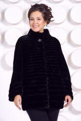 Красивая шуба черного цвета. Фото 3.