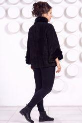 Женская куртка автоледи из натуральной замши больших размеров. Фото 4.
