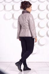 Кожаная куртка бежевого цвета. Фото 4.