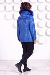 Демисезонная кожаная куртка больших размеров DM. Фото 5.