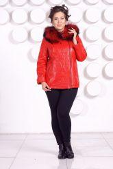 Демисезонная кожаная куртка больших размеров RM. Фото 1.