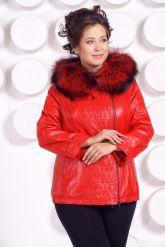 Демисезонная кожаная куртка больших размеров RM. Фото 2.