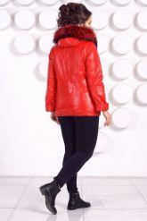 Демисезонная кожаная куртка больших размеров RM. Фото 5.