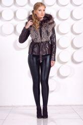 Молодежная куртка-жилетка шоколадного цвета. Фото 5.