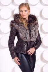 Молодежная куртка-жилетка шоколадного цвета. Фото 6.