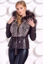 Молодежная куртка-жилетка шоколадного цвета. Фото 8.