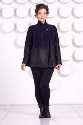 Красивая замшевая куртка больших размеров MEDYA. Фото 1.