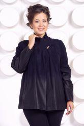 Красивая замшевая куртка больших размеров MEDYA. Фото 2.