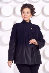 Красивая замшевая куртка больших размеров MEDYA. Фото 3.