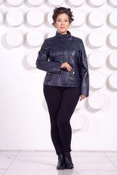 Кожаная куртка большого размера LARA. Фото 1.