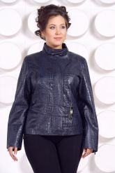 Кожаная куртка большого размера LARA. Фото 2.