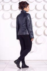 Кожаная куртка большого размера LARA. Фото 4.