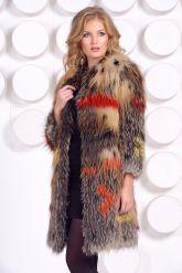 Меховая шубка из вязаной лисы. Фото 3.