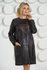 Итальянский кожаный плащ DONNA BONITA. Фото 3.