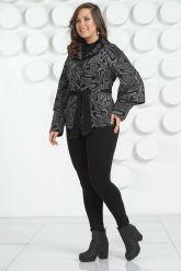 Кожаная куртка с лазерной обработкой. Фото 1.