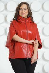 Красная кожаная куртка для женщин. Фото 2.