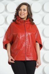 Красная кожаная куртка для женщин. Фото 3.