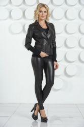 Черная кожаная куртка. Фото 6.