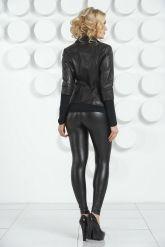 Черная кожаная куртка. Фото 8.