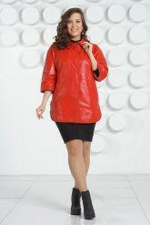 Кожаная куртка большого размера. Фото 1.