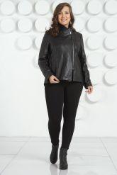 Стильная женская кожаная куртка. Фото 1.