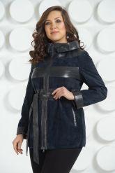 Кожаная куртка с капюшоном больших размеров. Фото 2.