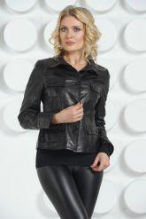 Молодежный кожаный пиджак. Фото 3.