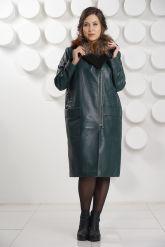 Роскошное итальянское кожаное пальто. Фото 1.