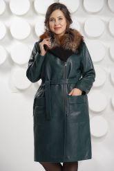 Роскошное итальянское кожаное пальто. Фото 3.