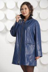 Удлиненная кожаная куртка больших размеров. Фото 3.