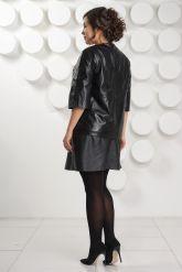 Кожаная курточка с укороченными рукавами. Фото 4.