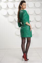 Модный перфорированный кожаный плащ. Фото 3.