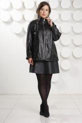 Классическая кожаная куртка больших размеров. Фото 1.
