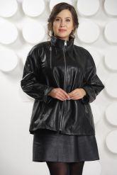 Классическая кожаная куртка больших размеров. Фото 2.