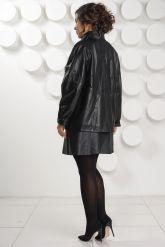 Классическая кожаная куртка больших размеров. Фото 4.