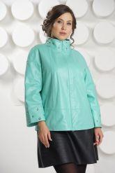 Нежная кожаная куртка больших размеров. Фото 3.