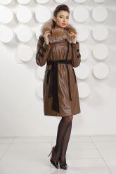 Кожаное пальто с подстежкой. Фото 1.