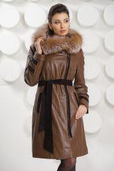 Кожаное пальто с подстежкой. Фото 2.