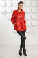 Модная кожаная куртка свободного покроя. Фото 1.
