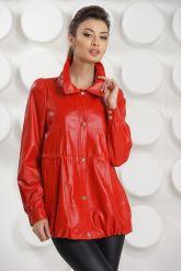 Модная кожаная куртка свободного покроя. Фото 2.