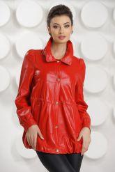 Модная кожаная куртка свободного покроя. Фото 4.