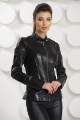 Кожаная куртка черного цвета. Фото 2.