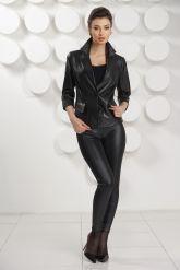 Черная кожаная куртка. Фото 3.